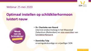 Schildklier Organisatie Nederland jaarprogramma 2021